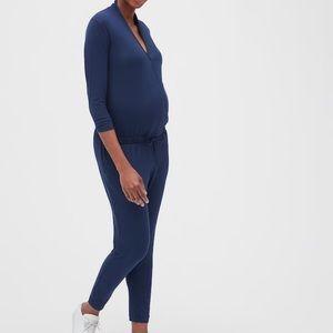 Gap Maternity Wrap Jumpsuit Navy Blue size M